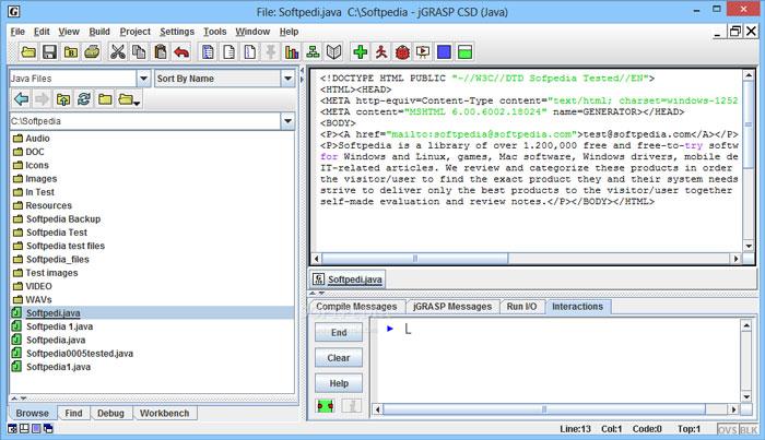 jGRASP Latest Screenshot