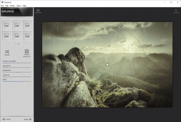 snapseed for pc screenshot